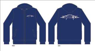 Halo: Halo Wings Zip Hoody Blue Sm
