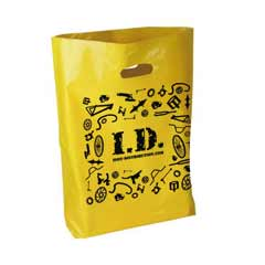 Id: I.d Carrier Bag Yellow (100)
