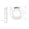 image of Halo HG Cassette Lockring dimensions