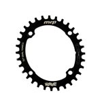 Mrp - Drivetrain: Mrp Wave Ring 104/32t Blk Oval - Click For More Info