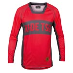 Tsg: Tsg Tp1 Ls Bikeshirt Red/gry Lg - Click For More Info