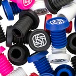 Gusset Grips: Gusset Bmx Push-in Bar Plugs Blue (20) - Click For More Info
