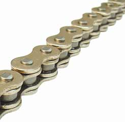 "Gusset Components: Gusset Tank Chain 1/2x1/8"" Cp"