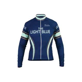 Light Blue Sport: Lb Nuovo Road Jrsy Ls Bu Sm
