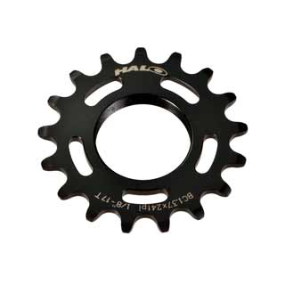 Bike Components & Parts Halo Track Cog 1/8 17T Sil Sporting Goods Chrome
